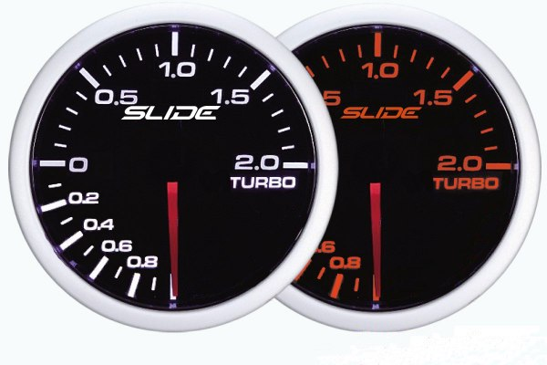ZEGAR SLIDE WA 52mm - Turbo Electric -1 do 2 BAR - GRUBYGARAGE - Sklep Tuningowy